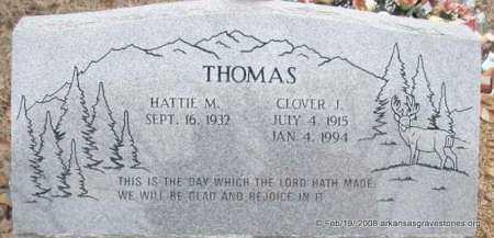 THOMAS, CLOVER J - Scott County, Arkansas | CLOVER J THOMAS - Arkansas Gravestone Photos