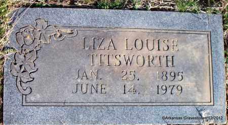 TITSWORTH, LIZA LOUISE - Scott County, Arkansas   LIZA LOUISE TITSWORTH - Arkansas Gravestone Photos