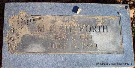 TITSWORTH, M C - Scott County, Arkansas | M C TITSWORTH - Arkansas Gravestone Photos