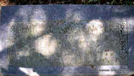 SAWYER TOMLIN, EMILY C - Scott County, Arkansas   EMILY C SAWYER TOMLIN - Arkansas Gravestone Photos