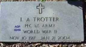 TROTTER  (VETERAN WWII), L A - Scott County, Arkansas   L A TROTTER  (VETERAN WWII) - Arkansas Gravestone Photos