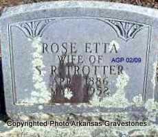 TROTTER, ROSE ETTA - Scott County, Arkansas | ROSE ETTA TROTTER - Arkansas Gravestone Photos