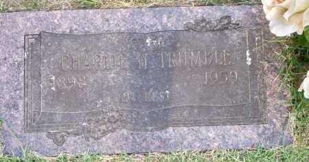 TRUMBLE, CHARLIE H - Scott County, Arkansas   CHARLIE H TRUMBLE - Arkansas Gravestone Photos