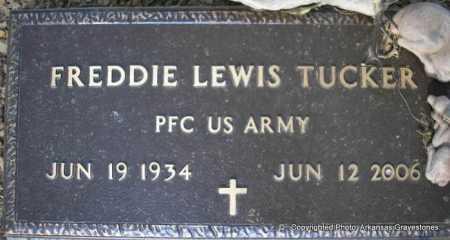 TUCKER  (VETERAN), FREDDIE LEWIS - Scott County, Arkansas   FREDDIE LEWIS TUCKER  (VETERAN) - Arkansas Gravestone Photos