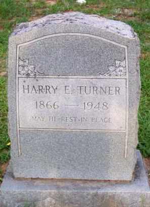 TURNER, HARRY E - Scott County, Arkansas | HARRY E TURNER - Arkansas Gravestone Photos