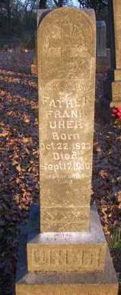 UHER, FRANK - Scott County, Arkansas | FRANK UHER - Arkansas Gravestone Photos