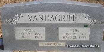 VANDAGRIFF, MACK - Scott County, Arkansas | MACK VANDAGRIFF - Arkansas Gravestone Photos