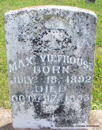VIEFHOUSE, MAX - Scott County, Arkansas | MAX VIEFHOUSE - Arkansas Gravestone Photos