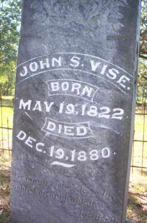 VISE, JOHN S - Scott County, Arkansas | JOHN S VISE - Arkansas Gravestone Photos