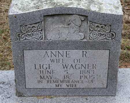 WAGNER, ANNE R - Scott County, Arkansas | ANNE R WAGNER - Arkansas Gravestone Photos
