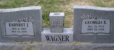 WAGNER, GEORGIA E - Scott County, Arkansas | GEORGIA E WAGNER - Arkansas Gravestone Photos