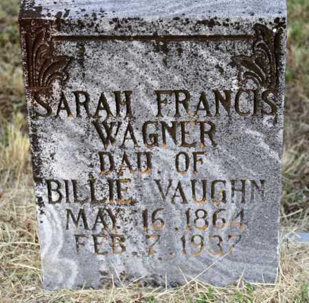 WAGNER, SARAH FRANCIS - Scott County, Arkansas | SARAH FRANCIS WAGNER - Arkansas Gravestone Photos