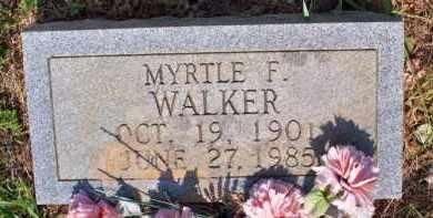 WALKER, MYRTLE F - Scott County, Arkansas | MYRTLE F WALKER - Arkansas Gravestone Photos