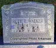 PLUMMER WALKER, RUTH E - Scott County, Arkansas | RUTH E PLUMMER WALKER - Arkansas Gravestone Photos