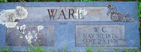 WARE, MATTIE - Scott County, Arkansas | MATTIE WARE - Arkansas Gravestone Photos