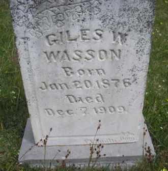WASSON, GILES W - Scott County, Arkansas | GILES W WASSON - Arkansas Gravestone Photos
