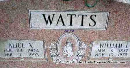 WATTS, WILLIAM I - Scott County, Arkansas | WILLIAM I WATTS - Arkansas Gravestone Photos