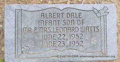 WATTS, ALBERT DALE - Scott County, Arkansas   ALBERT DALE WATTS - Arkansas Gravestone Photos