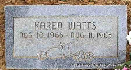 WATTS, KAREN - Scott County, Arkansas | KAREN WATTS - Arkansas Gravestone Photos