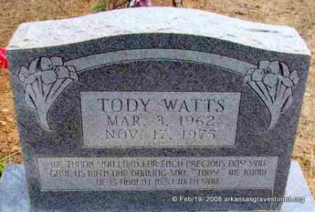 """WATTS, RONALD WENDALL """"TODY"""" - Scott County, Arkansas   RONALD WENDALL """"TODY"""" WATTS - Arkansas Gravestone Photos"""