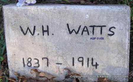 WATTS, WILLIAM HENRY - Scott County, Arkansas   WILLIAM HENRY WATTS - Arkansas Gravestone Photos