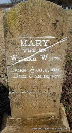 WHITE, MARY - Scott County, Arkansas | MARY WHITE - Arkansas Gravestone Photos