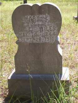 WILES, MARY E - Scott County, Arkansas | MARY E WILES - Arkansas Gravestone Photos