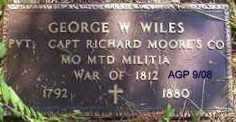 WILES (VETERAN 1812), GEORGE W - Scott County, Arkansas | GEORGE W WILES (VETERAN 1812) - Arkansas Gravestone Photos