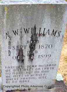 WILLIAMS, A W - Scott County, Arkansas | A W WILLIAMS - Arkansas Gravestone Photos