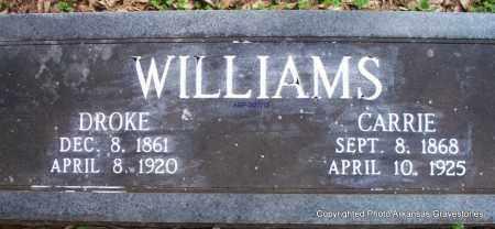 WILLIAMS, DROKE - Scott County, Arkansas   DROKE WILLIAMS - Arkansas Gravestone Photos