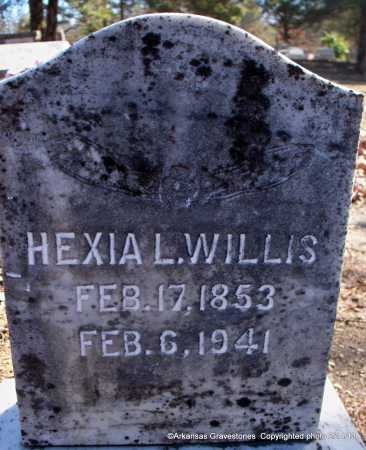 WILLIS, HEXIA L - Scott County, Arkansas | HEXIA L WILLIS - Arkansas Gravestone Photos