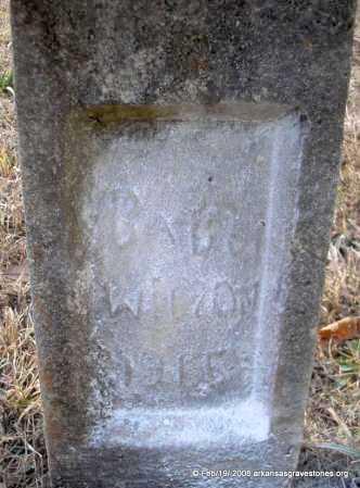 WILSON, BABY - Scott County, Arkansas   BABY WILSON - Arkansas Gravestone Photos
