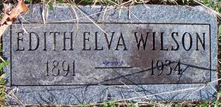 WILSON, EDITH ELVA - Scott County, Arkansas | EDITH ELVA WILSON - Arkansas Gravestone Photos