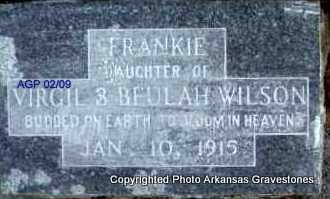 WILSON, FRANKIE - Scott County, Arkansas | FRANKIE WILSON - Arkansas Gravestone Photos