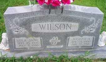 WILSON, LOLA JANE - Scott County, Arkansas   LOLA JANE WILSON - Arkansas Gravestone Photos