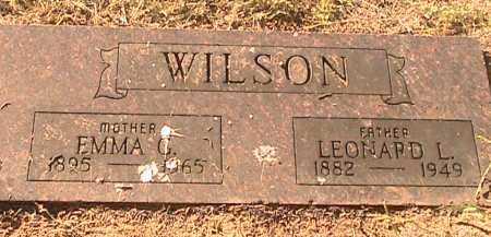 WILSON, LEONARD L - Scott County, Arkansas | LEONARD L WILSON - Arkansas Gravestone Photos