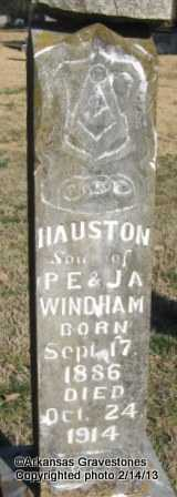 WINDHAM, HAUSTON - Scott County, Arkansas | HAUSTON WINDHAM - Arkansas Gravestone Photos