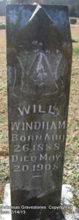WINDHAM, WILL - Scott County, Arkansas | WILL WINDHAM - Arkansas Gravestone Photos