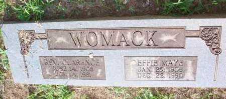 BURNS WOMACK, EFFIE MAYE - Scott County, Arkansas | EFFIE MAYE BURNS WOMACK - Arkansas Gravestone Photos