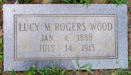 ROGERS WOOD, LUCY M - Scott County, Arkansas | LUCY M ROGERS WOOD - Arkansas Gravestone Photos