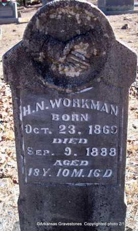 WORKMAN, H  N - Scott County, Arkansas | H  N WORKMAN - Arkansas Gravestone Photos