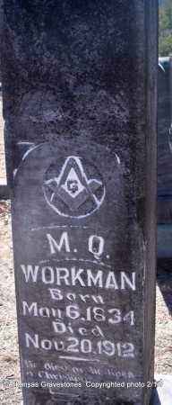 WORKMAN  (VETERAN CSA), MORRIS QUINCY - Scott County, Arkansas   MORRIS QUINCY WORKMAN  (VETERAN CSA) - Arkansas Gravestone Photos