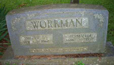 WORKMAN, HERMAN M - Scott County, Arkansas | HERMAN M WORKMAN - Arkansas Gravestone Photos
