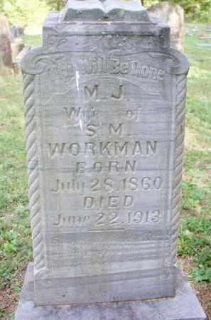 WORKMAN, M J - Scott County, Arkansas   M J WORKMAN - Arkansas Gravestone Photos