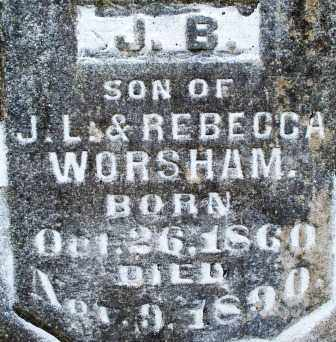 WORSHAM, J  B - Scott County, Arkansas | J  B WORSHAM - Arkansas Gravestone Photos