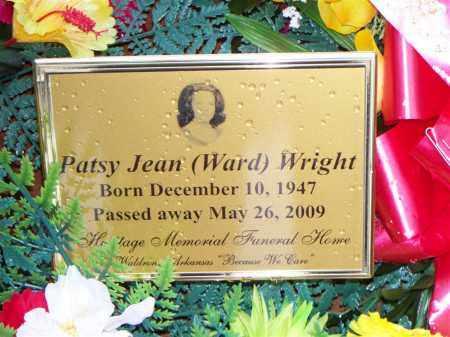 WRIGHT, PATSY JEAN - Scott County, Arkansas | PATSY JEAN WRIGHT - Arkansas Gravestone Photos