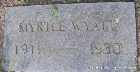WYATT, MYRTLE - Scott County, Arkansas | MYRTLE WYATT - Arkansas Gravestone Photos