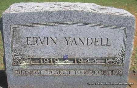 YANDELL, ERVIN - Scott County, Arkansas | ERVIN YANDELL - Arkansas Gravestone Photos