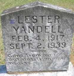 YANDELL, LESTER - Scott County, Arkansas   LESTER YANDELL - Arkansas Gravestone Photos
