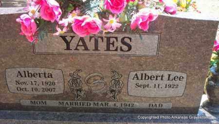 WAGONER YATES, ALBERTA - Scott County, Arkansas | ALBERTA WAGONER YATES - Arkansas Gravestone Photos
